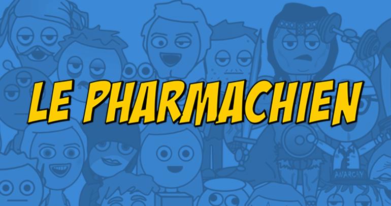 Allergies, homéopathie et affichophilie: Le Pharmachien à Médium Large